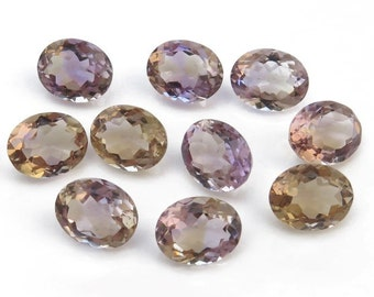Ametrine Faceted Oval Gemstone 8mm x 6mm