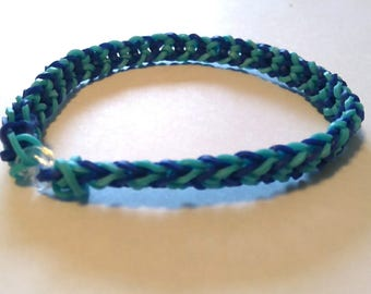 Inverted Fishtail Rainbow Loom Bracelet (Large)