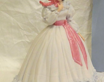 """Free Shipping for Seniors!  Gone With the Wind ~""""MELANIE WILKES""""~11"""" FIGURINE~ By: Franklin Mint ~1988"""