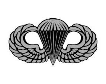 US Army Basic Parachutist Badge Vector Files, dxf eps svg ai crv