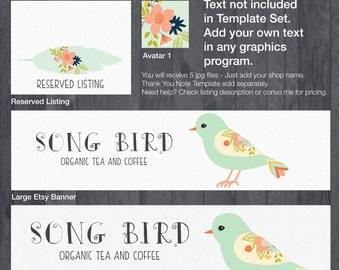 Etsy Banner and Store Branding Doodle DIY Template - #1874
