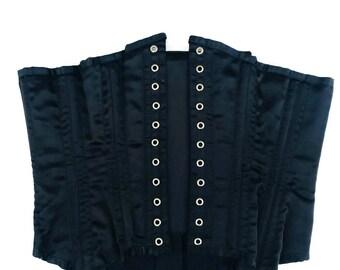 Vintage Black Lace Corset  Lingerie