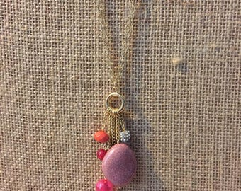Long Necklace, Charm necklace, Fall necklace