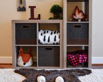 Nursery Rug / Regular size Bear Rug / woodland nursery / Baby room decor / animal playmat