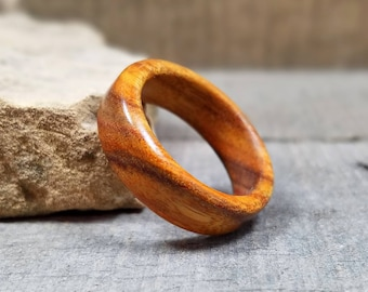 Wooden Ring - Womens Wooden Ring - Mens Wooden Ring - Canarywood - Wooden Rings For Men - Wooden Wedding Band - Mens Engagement Ring
