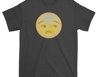 Color Emoticon - Sad Face Smile Mens T-shirt