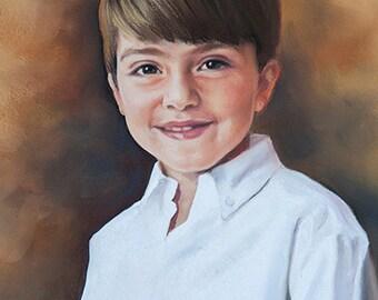 Pastel portrait, Custom pastel portrait, Children portraits
