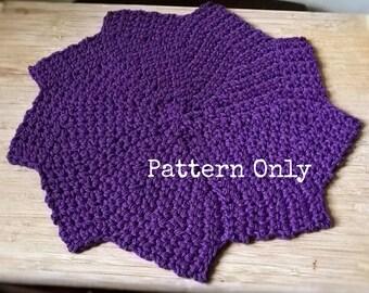 Crochet Washcloth Pattern - Stellar Dishcloth - PDF - Star - Vintage - Dishcloth - Kitchen - Scrubbie - Washcloth - Bathcloth - Bathroom