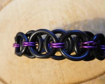 Helmet weave rubber bracelet