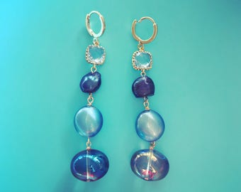All Shades of Blue Earrings - One Of A Kind!