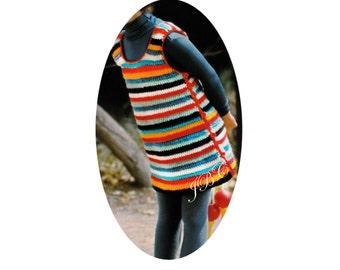 Girl's Jumper Crochet Pattern Girl Tunic Pattern Girls Dress Crochet Pattern PDF B105