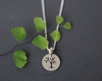 Sterling Silver Tree Pendant, Tree Pendant, Little Tree Pendant, Nature Jewelry, Ash Tree Jewelry, Silver Pendant, Simple Jewelry