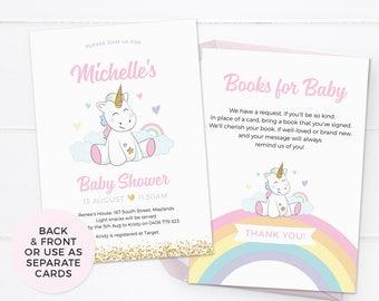 Unicorn baby shower invitations, Girl baby shower invitations PRINTABLE baby shower invites Unicorn baby sprinkle invitation Party printable
