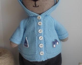 knitted toys bear handmade toy Teddy bear Tilda bear knitted bear toy bear doll bear amigurumi crochet toys