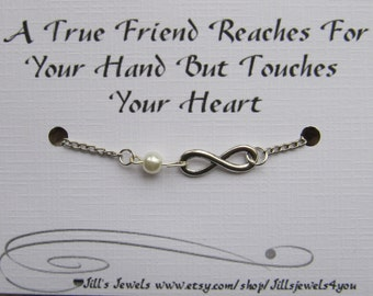 Friendship Bracelet, Best friend Bracelet, Infinity Bracelet, Going Away Gift, Graduation Gift, BFF Bracelet, Inspirational Bracelet
