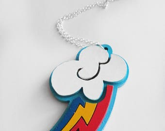 Rainbow Dash Cutie Mark Necklace Pendant