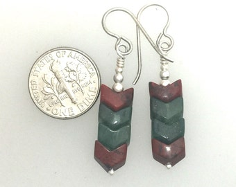Earrings Interlocking Stone Beads