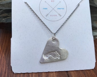 Baby Real Footprint Necklace. Made From Your Child's Actual Footprint.