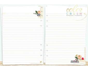 A5 Write It Down Inserts for A5 Size Planner • Webster's Pages Color Crush Planner Inserts (P1010)