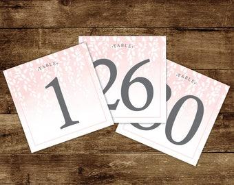 Printable - table number Reception - wedding - wedding stationery