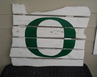 Oregon Ducks  -  Oregon State Reclaimed Wood Sign