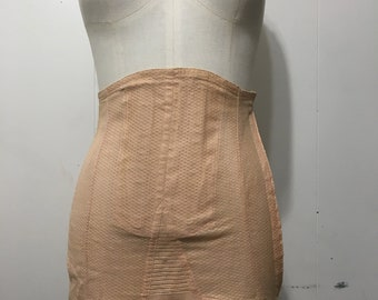 Blush Vintage 1950's Girdle.  Excellent condition.  Small with sticking clips