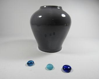 Grey terracotta vase