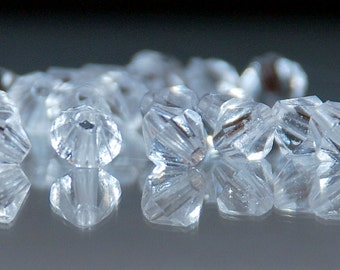 100 pcs 6mm Crystal Clear Acrylic Bicone Beads