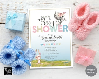 Woodland Girl Baby Shower Invitation Printable