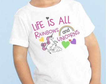 Life is all Rainbows & Unicorns Kids Tee