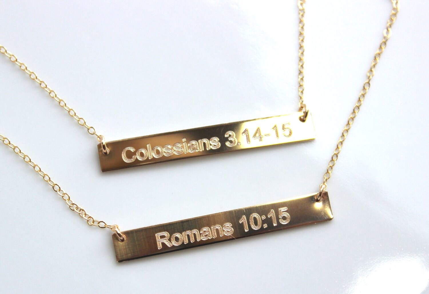 Bible Verse Necklace Custom Engraved Personalized Necklace