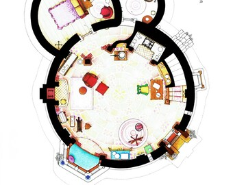 Layout of Rapunzel's Tower from TANGLED - Main Floor