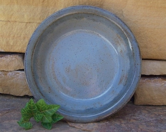 Feeling Blue Stoneware Quiche or Small Pie Plate - Handmade Pottery