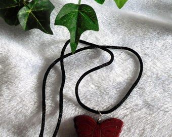 Red Butterfly Necklace  N-110