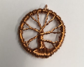 Copper Tree Necklace Pendant