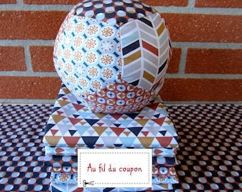 """Set of 6 coupons oekotex 100% cotton patchwork fabric 50 x 50 cm """"Terra / Celadon"""" + tutorial available"""