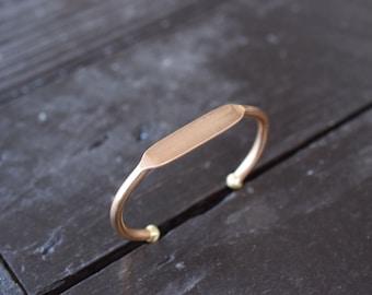 Adjustable Brass Cuff Bracelet Blank, Engravable Stamping Blank Cuff Bracelet
