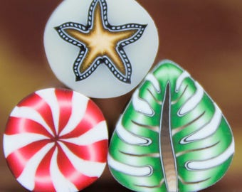 Set of 3 Polymer Clay Mini  (39A)