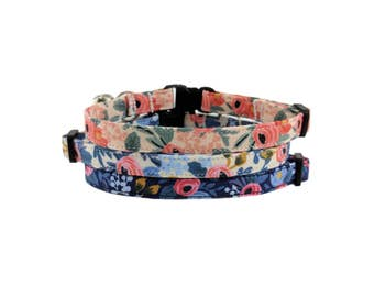 Floral Kitty - Spring/Summer Safety Breakaway Cat or Kitten Collars - Choose from 3 Colors!