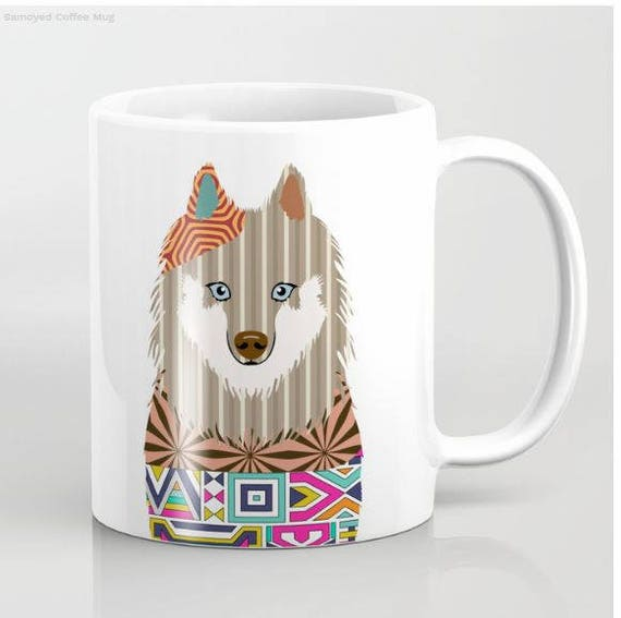 Samoyed Mug, Dog Mug,  Samoyed Gifts, Animal Mug, Pet Gifts, Pet Mug, Dog Lovers Gift, Dog Lover Mug, Dog Lover, Animal Print