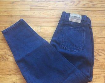 Vintage Authentic Brittania Quality Jeans High Waist Dark Wash Denim Jeans