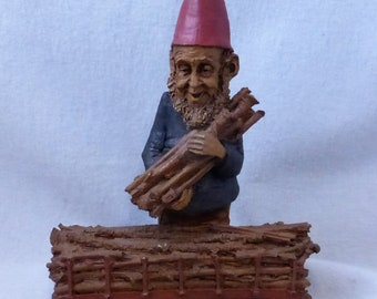 Vintage Cairn Studio Tom Clark Gnome Woodspirit  Lumber Jack Re-Signed