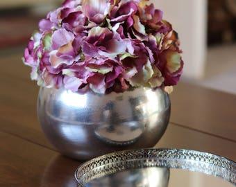 Purple hydrangea centrepiece