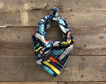 Tools Handyman Construction Tie On Dog Bandana