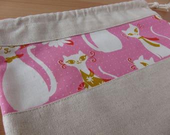 Fancy Kitty Drawstring Project Bag