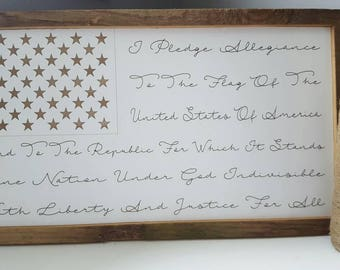 Pledge of Allegiance American Flag