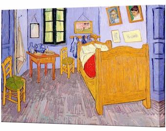 Van Gogh Bedroom Home Decor Vincent Van Gogh Canvas Art Canvas Wall Art Print Wall Decor Ready To Hang