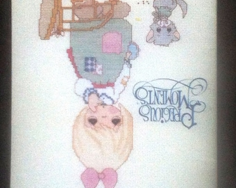 Vintage Precious Moments Cross Stitch Pattern Book PM-20 ... The Lord Giveth