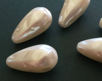 Vintage Lucite Haskell Pearl Drops (4) Vintage Beads