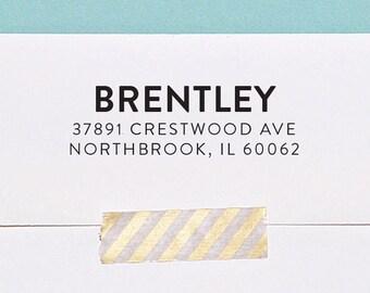 Modern Address Stamp, Return Address Stamp, Self Inking Address Stamp, Custom Address Stamp, Housewarming Gift, A126